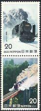 GIAPPONE 1975 Treni/macchine a vapore/Locomotive/Trasporto/Rail 2v Set PR (n25171a)