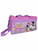 "Minnie Mouse Duffel Bag 17"" Carry On Travel for Children Kids Pink"