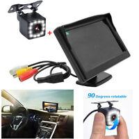 5 Inch Car TFT LCD Parking Rear View Monitor+12LED Backup Camera LED Night Vison