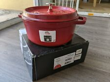 New listing Staub Enameled Cast Iron Round Dutch Oven (4-qt, Cherry Red)