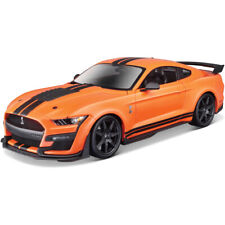 Maisto Diecast Metal 1 18 Orange 2020 Ford Mustang Shelby Gt500 Special Edition