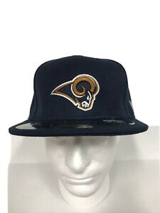 New Era 59Fifty NFL Cap Los Angeles Rams 7 3/8 On Field Fitted Team Hat Blue NEW