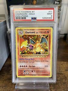 PSA 9 Evolutions Holo Charizard 11/108 Pokemon Card 💎MINT💎