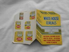 1915 WHITE HOUSE CEREALS DIE-CUT BOOKLET-NICE-48 PAGES-5
