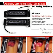 Auxiliary LED Run/Brake/Turn Lamp Rear Fender Lighting For Harley Electra Glide