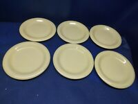 Gibson Everyday Designs Solid Pale Yellow Set/6 Dessert/Salad Plates Nice!