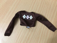 Barbie Doll Fashion Fever My Scene Brown Argyle Long Sleeve Top Outfit Rare