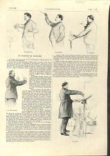 Syndicat des Musiciens chef d'Orchestre Édouard Colonne & Camille  GRAVURE  1902