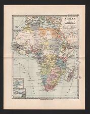 Landkarte map 1892: AFRIKA POLITISCHE ÜBERSICHT. Africa