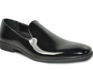 Solid Tuxedo Slip On Loafers