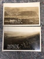Two AZO Real Photo Post Cards Of Bald Eagle Valley - State College, PA