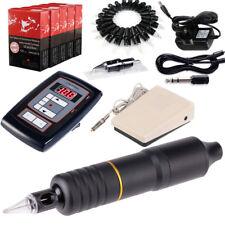 Híbrido Rotativa Pluma de Tatuaje Máquina Kit Pedal 50 Agujas Poder EM108KITB50