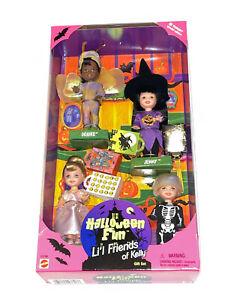 1998 Halloween Fun Li'l Friends of Kelly Barbie Dolls Gift Set Trick Treat Bags