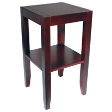 Wooden Square Contemporary Side & End Tables with Shelves