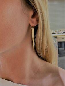 Earrings yellow gold 14k NEW