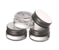 5g x 24 Small Glass Cosmetic Sample Craft Container Jar Pot Aluminium Lid