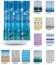 Modern Quality Bathroom Fabric Shower Curtains - Extra Long 180 / 200cm Drop