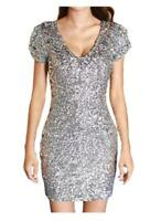Body Con Bandage Vintage Gold Silver Red Black Sequin Mini Party Dress RRP $40