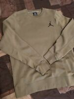 Jordan Flight Crew Neck Sweater Army/Grn Mens Sz L (in Great Condition)
