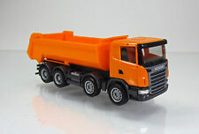 Herpa 306386 Scania R Rundmulden LKW 4 Achs orange Scale 1 87 NEU OVP