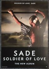 Sade Soldier of Love 2010 DOUBLE-SIDED PROMO POSTER