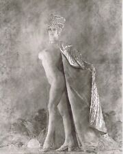 Hendrickson 11x14 Grayscale Textured Queen of the Night Cape Nude Showgirl Hat