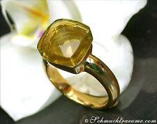 Edel & perfekt zu kombinieren: Feinster Zitronenquarz Ring, Gelbgold 750, 2000€