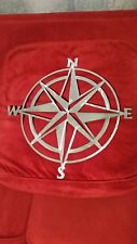 "Nautical COMPASS ROSE  20"" WALL ART DECOR garage rustic home decor metal art"