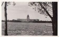 Parliament Buildings from Wascana Park REGINA Saskatchewan 1930-40s RPPC 719