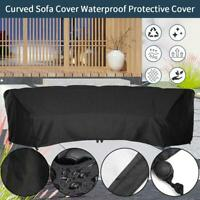 Outdoor Furniture Curved Sunscreen Dust Guard Waterproof Protective Cover