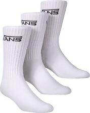 Vans Socks 3 Pack Crew White SIZE 6-9 OTW Classics New Skateboard Bmx Sox
