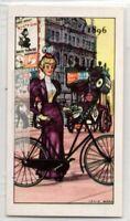 1896 Lady's Loop No Crossbar Tube Bicycle Vintage Trade Ad Card
