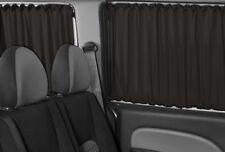 VW T5 & T6 Transporter Caravelle NUR für 3 Fenster BUS GARDINEN VORHÄNGE SCHWARZ