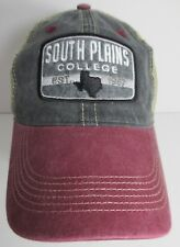 South Plains College Texans Hat Cap Trucker Snapback USA Embroidery Prefade New