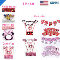 Cartoon Birthday Party Supplies for Kids Birthday Decorations US Cute 3 in 1 Set