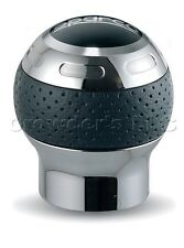 Sparco Gear Shift Shifter Knob Globe Silver / Black Perforated Leather 03745PTN