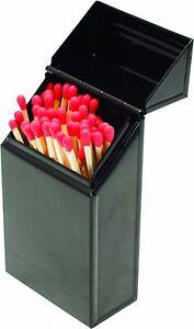 Valiant Fireside Match Tidy -  Black Gloss Steel Storage Box - FIR241