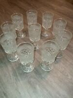 Vintage  Crystal Water Goblets Wine Glasses - Set of 6