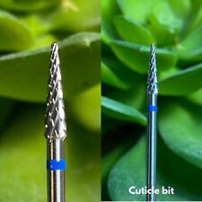 Cuticle & Underneath Point Head Tungsten Carbide Nail Drill Bit 3/32� *Usa*