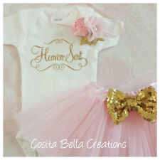 Newborn baby coming home outfit pink and gold newborn baby shower gift set
