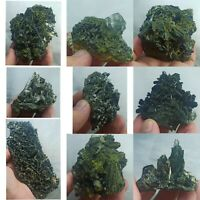 Green Epidote Crystal Clusters from Quetta/Baluchistan 09pcs Healing Crystals