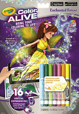 Crayola Colour Alive (Color Alive) - Enchanted Forest (Colouring Book)