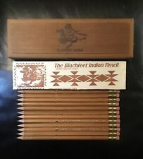 VINTAGE BLACKFEET INDIAN PENCILS IN WOOD CASE