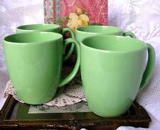 Corelle Green Stoneware Coffee Mugs - Set of Four Green Corelle D Handle Mugs