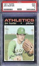 1971 Topps PSA 7 Jim Hunter