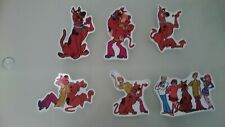 6 scooby doo VINYL WALL STICKER WALL DECALS