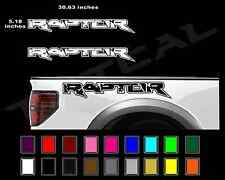 FORD RAPTOR Truck Side Bed Lettering Decals Vinyl Graphic Sticker 2010-2014