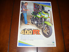 KAWASAKI 400RR EDDIE LAWSON REPLICA ELR TRIBUTE  - ORIGINAL 2010 ARTICLE