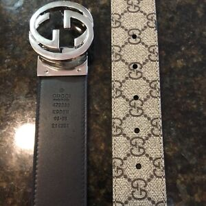 Authentic Gucci Supreme Reversible Belt Size 95cm 32-34 waist