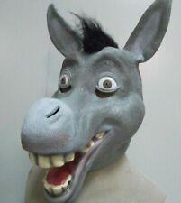 Donkey Mask Latex Fancy Dress Halloween Costume Full Head Animal Comical Shrek
